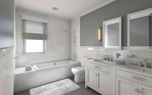 A modern bathroom.